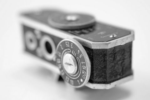 Black and white light meter photo